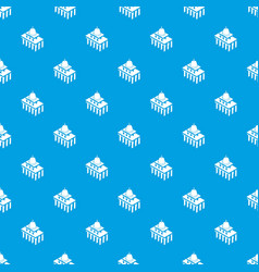 white house usa pattern seamless blue vector image