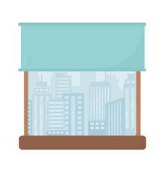 window cityscape view urban isolated icon design vector image