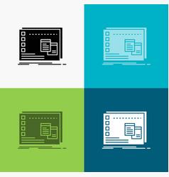 Window mac operational os program icon over vector