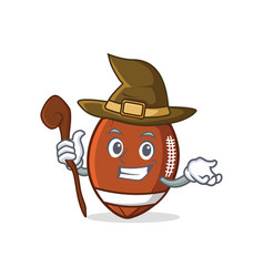 witch american football character cartoon vector image