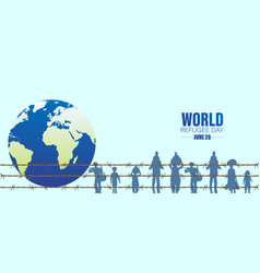 World refugee day concept social event 20 vector