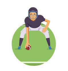 young player standby in american football game vector image