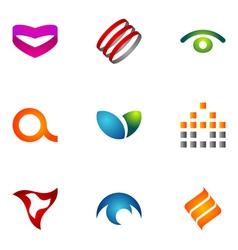 logo design elements set 72 vector image vector image