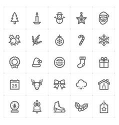 mini icon set christmas icon vector image vector image