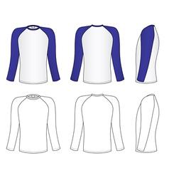 raglan sleeve t-shirt vector image