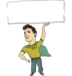 super employee vector image vector image