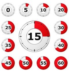 889 - Clock 23 1 vector image vector image
