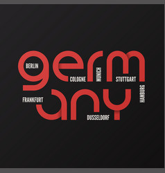 germany t-shirt and apparel design vector image vector image