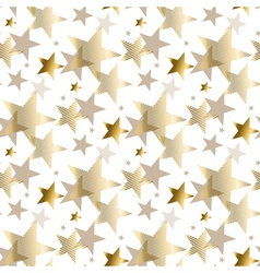 gold star luxury pastel color seamless pattern vector image vector image