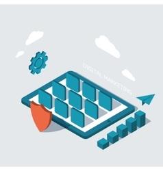 modern digital marketing background vector image