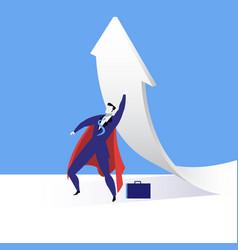 super businessman flat vector image