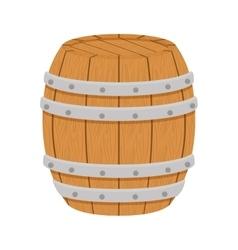 wooden barrel icon image design vector image