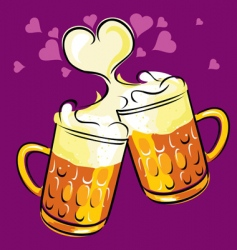 beer love vector image vector image