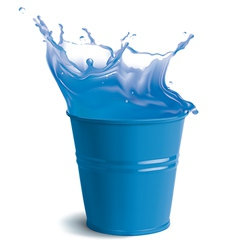 Bucket full of clear water vector image vector image