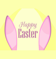 Happy easter the rabbit ears vector