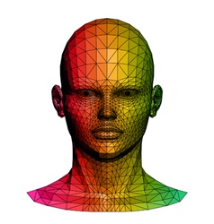 Human colorful head vector image