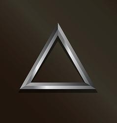 Metal silver triangle logo vector image vector image