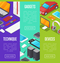 modern gadgets and computer devices set vector image vector image