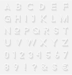 White 3d letters set vector image
