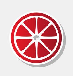 fruits lemon sign new year reddish icon vector image