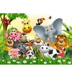 Funny animal cartoon vector