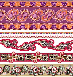 5 colored ornamental seamless pattern vector image