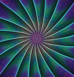 Abstract color fractal ray background vector