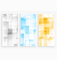 Abstract geometric square and rectangle pattern vector