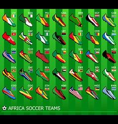 African soccer teams vector