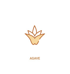 Agave concept 2 colored icon simple line element vector