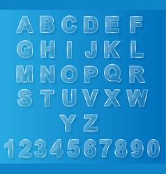 alphabet modern glass vector image