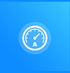 Ammeter icon vector