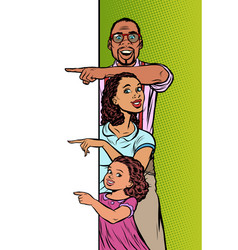 announcement advertising african american family vector image