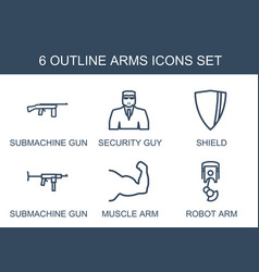 arms icons vector image