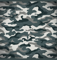 Army camouflage background with grunge effect vector