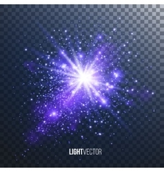 Background burst with sparkles vector