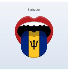 Barbados language Abstract human tongue vector