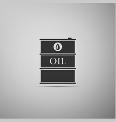 barrel oil flat icon on grey background vector image