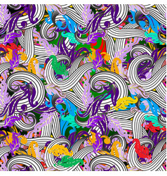 Beautiful intricate colorful seamless pattern vector