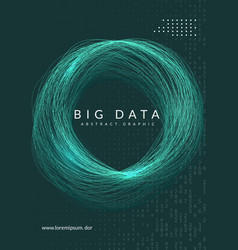 big data background technology for visualization vector image