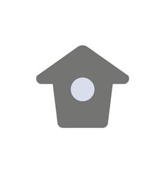 Birdhouse tweet twitter flat color icon icon vector