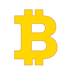 Bitcon sign icon gold vector