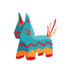 bright birthday donkey pinata vector image