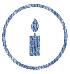 Candle rounded fabric textured icon vector