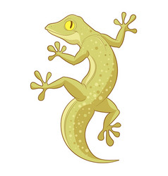 Cartoon smiling gecko vector