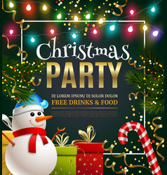 christmas party festive poster vector image