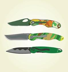Clipart - folding pocket knives vector