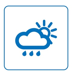 Cloud rain sun icon vector