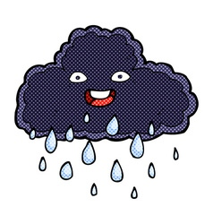 Comic cartoon raincloud vector