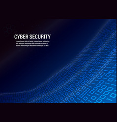 Cyber security concept on binary code background vector
